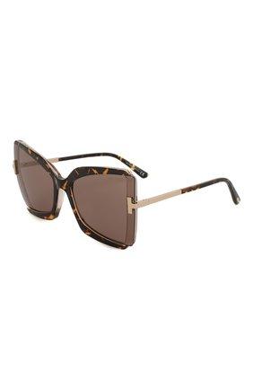 Женские солнцезащитные очки TOM FORD коричневого цвета, арт. TF766 56J | Фото 1