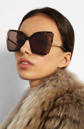 Женские солнцезащитные очки TOM FORD коричневого цвета, арт. TF766 56J | Фото 2