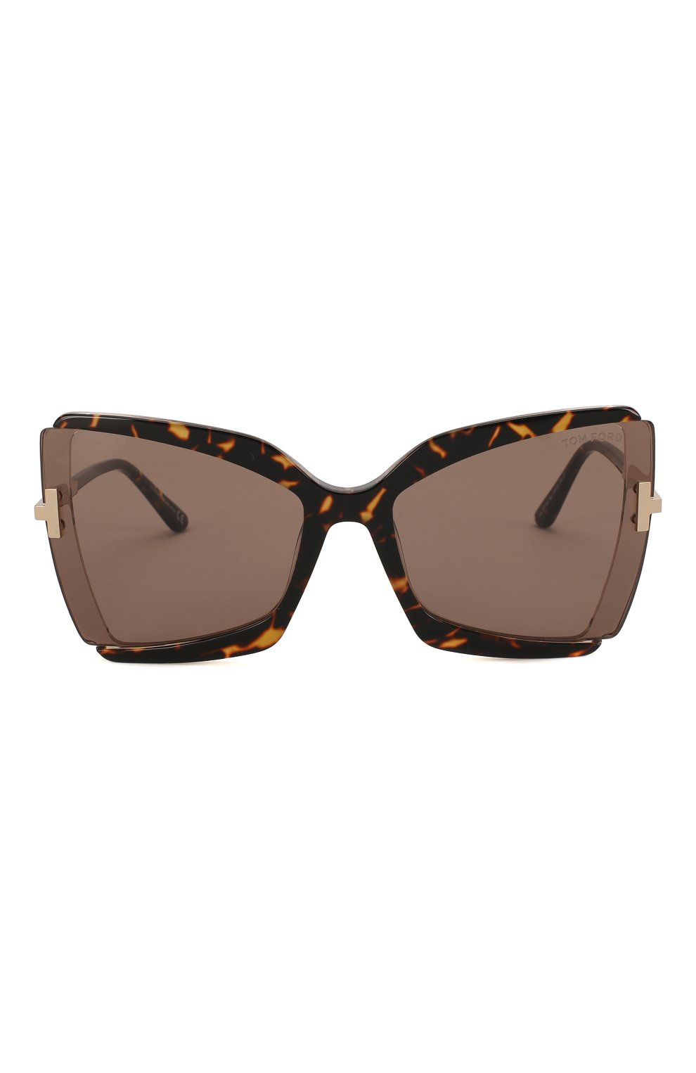 Женские солнцезащитные очки TOM FORD коричневого цвета, арт. TF766 56J | Фото 3