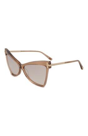 Женские солнцезащитные очки TOM FORD бежевого цвета, арт. TF767 57G | Фото 1