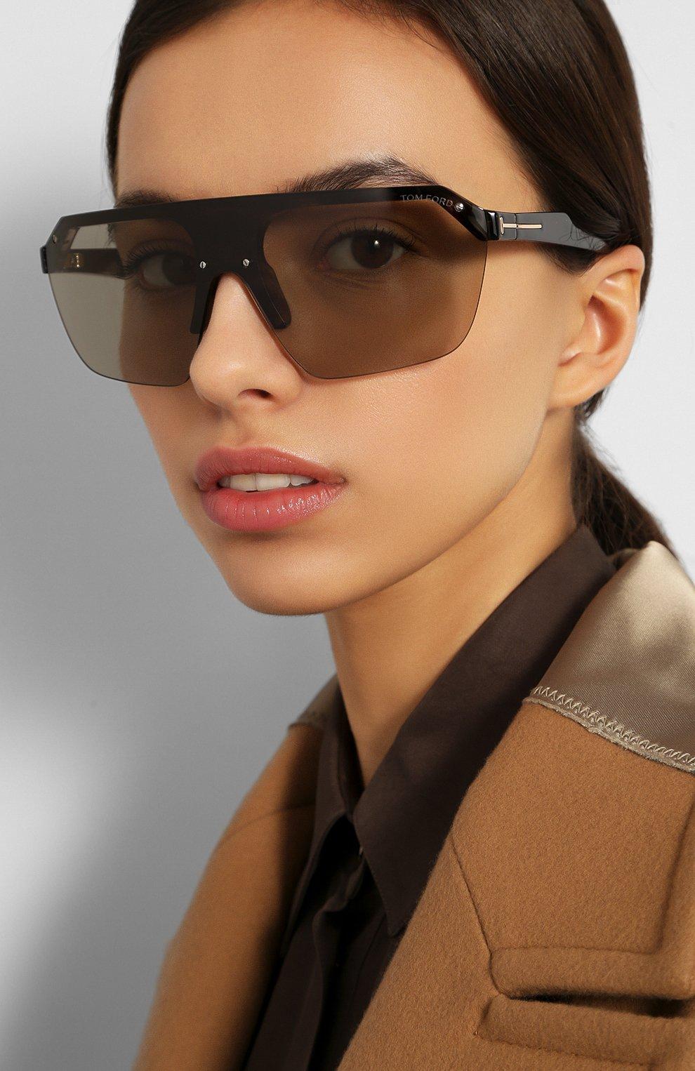 Женские солнцезащитные очки TOM FORD черного цвета, арт. TF797 56A | Фото 2