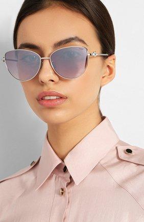 Женские солнцезащитные очки FRED лилового цвета, арт. FG40015U 18T | Фото 2