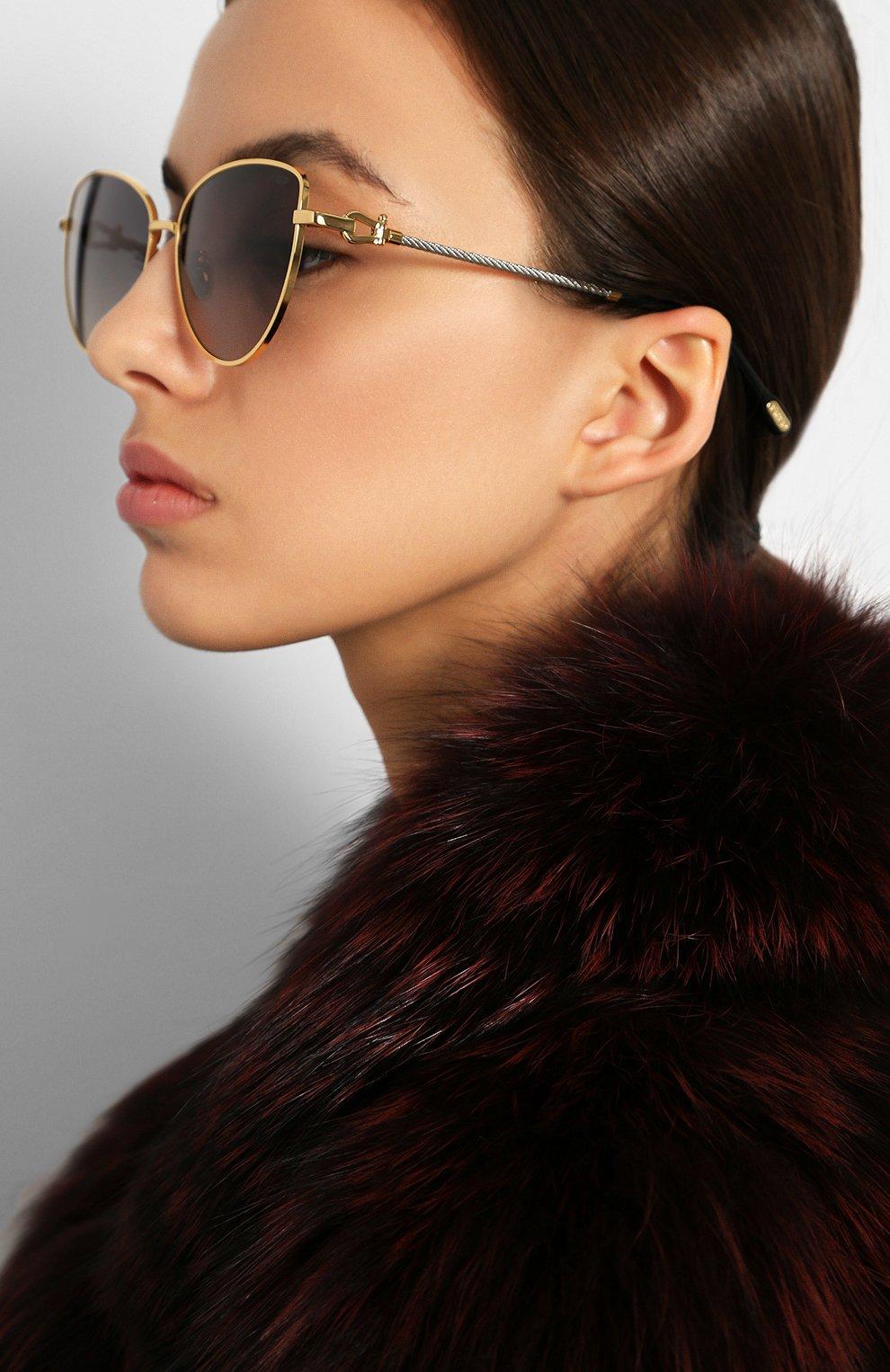Женские солнцезащитные очки FRED серого цвета, арт. FG40015U 30B   Фото 2