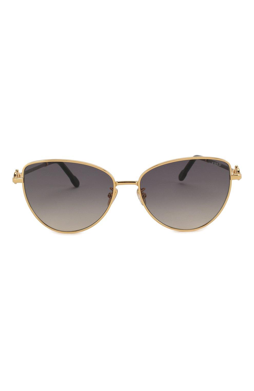 Женские солнцезащитные очки FRED серого цвета, арт. FG40015U 30B   Фото 3