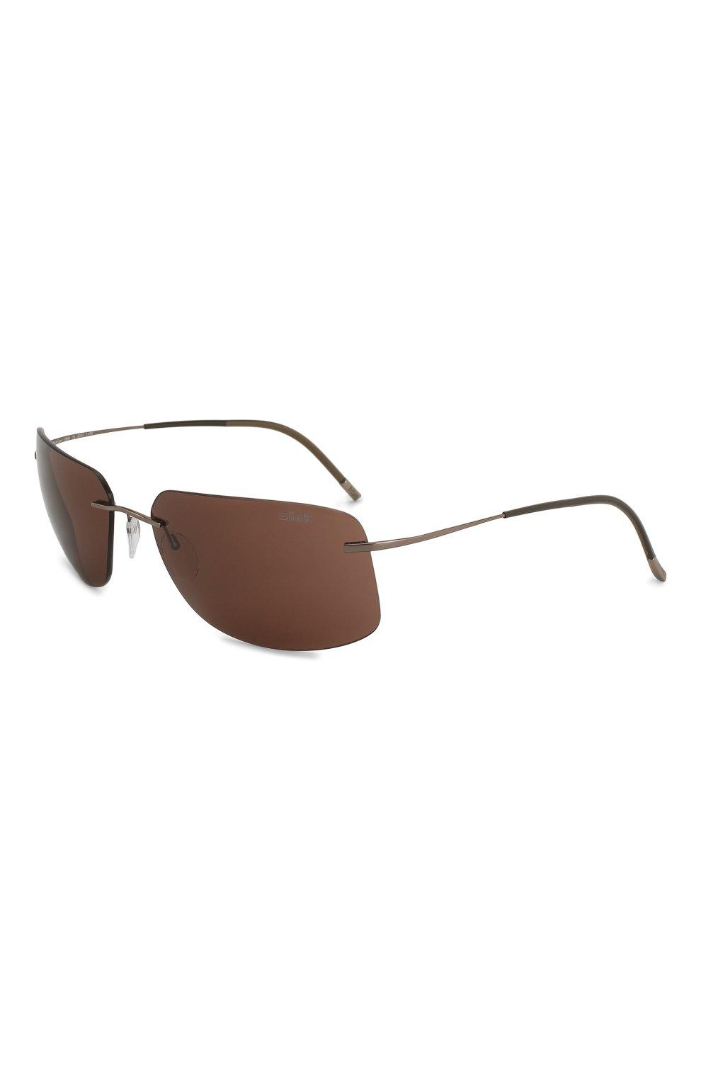 Женские солнцезащитные очки SILHOUETTE коричневого цвета, арт. 8698/6240 | Фото 1