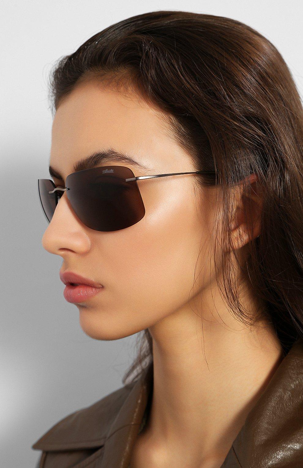 Женские солнцезащитные очки SILHOUETTE коричневого цвета, арт. 8698/6240 | Фото 2