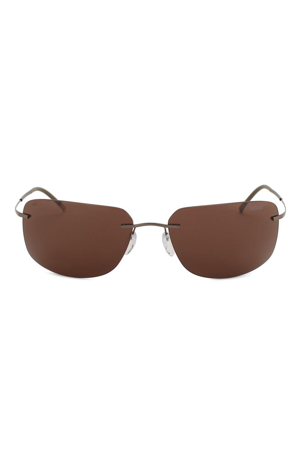 Женские солнцезащитные очки SILHOUETTE коричневого цвета, арт. 8698/6240 | Фото 4