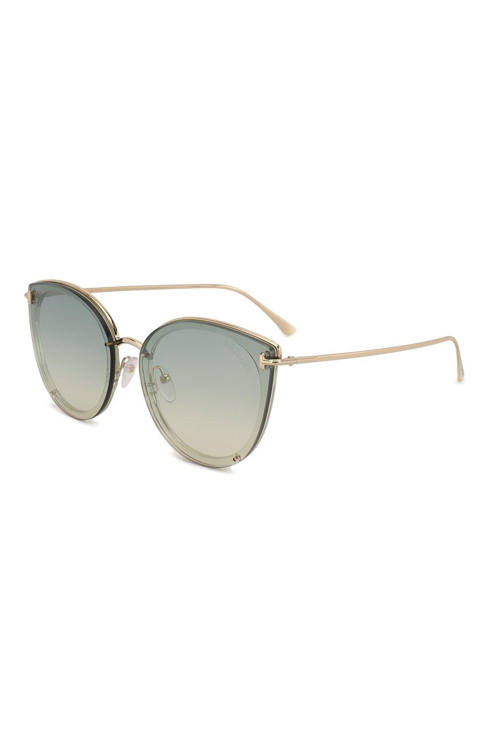 Женские солнцезащитные очки TOM FORD голубого цвета, арт. TF720-K 32Q | Фото 1