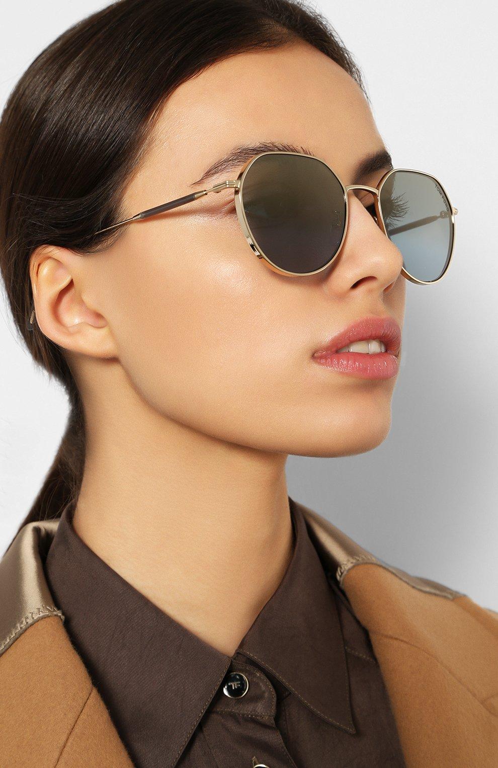 Женские солнцезащитные очки TOM FORD серебряного цвета, арт. TF721-K 32X | Фото 2