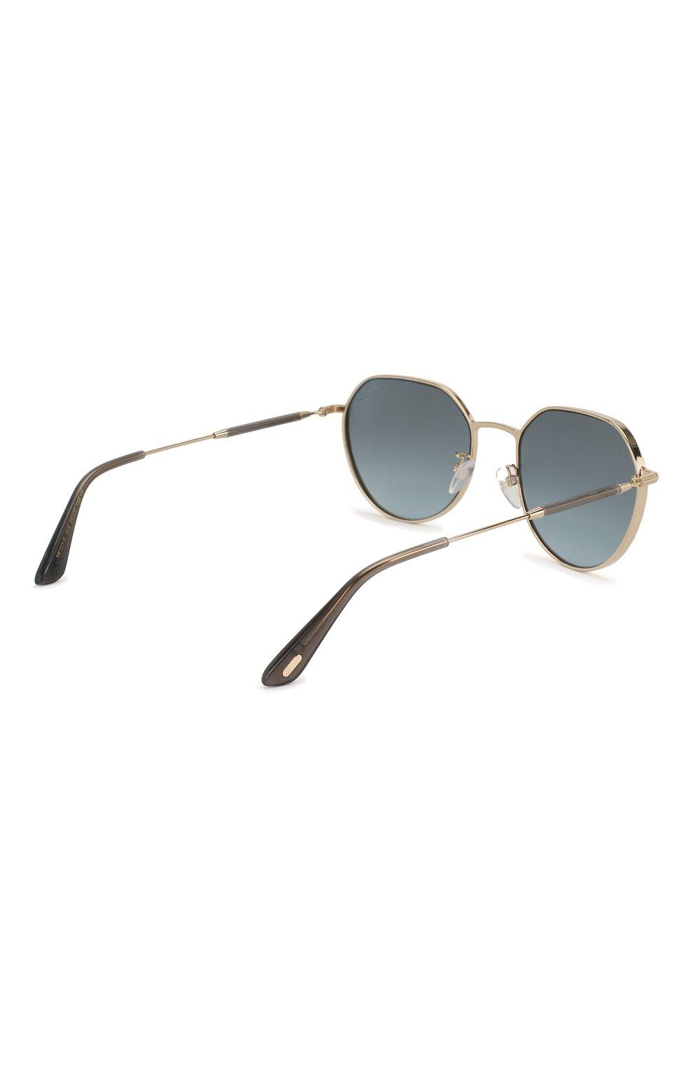 Женские солнцезащитные очки TOM FORD серебряного цвета, арт. TF721-K 32X | Фото 5