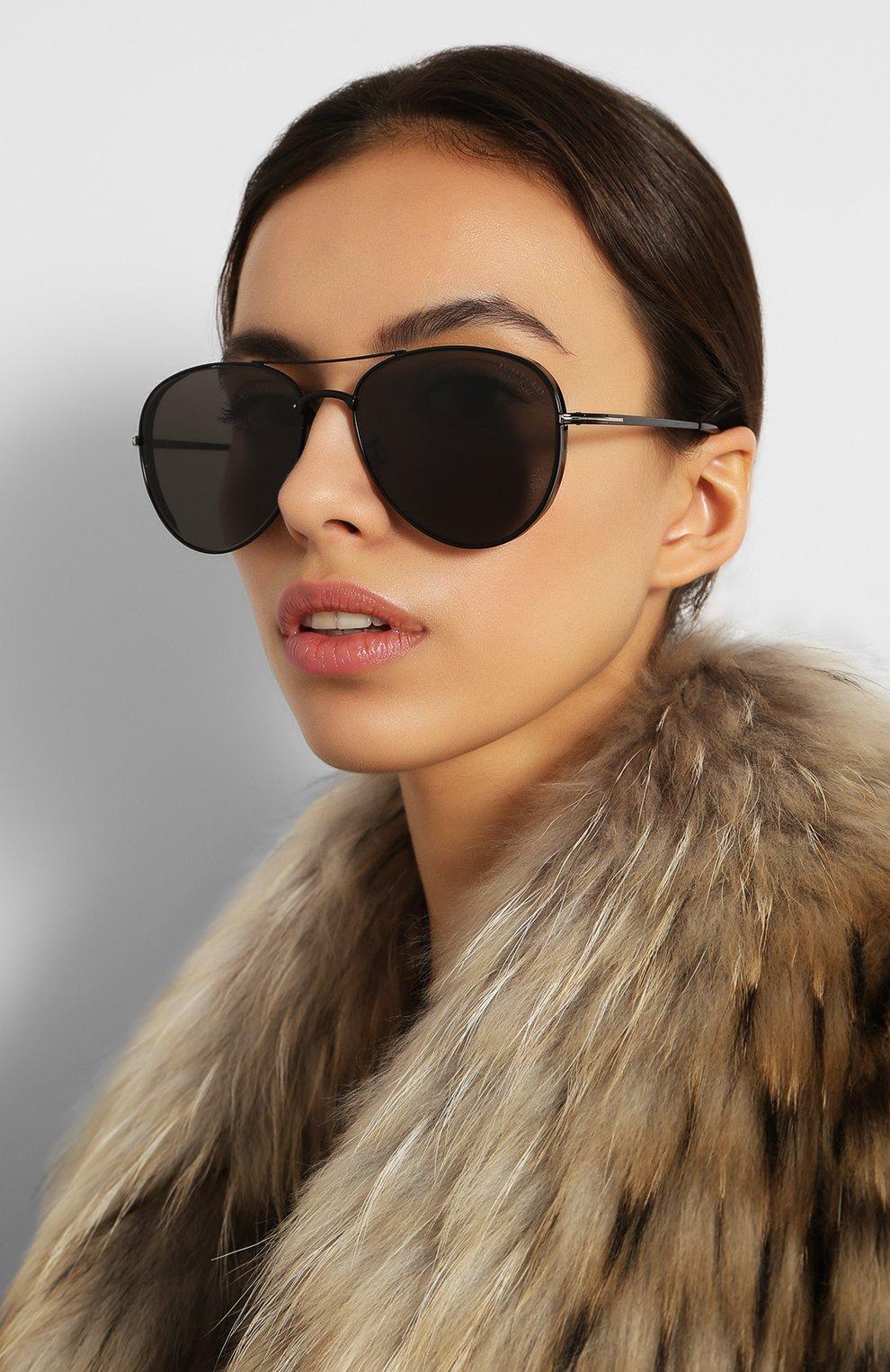 Женские солнцезащитные очки TOM FORD черного цвета, арт. TF723-K 01D   Фото 2