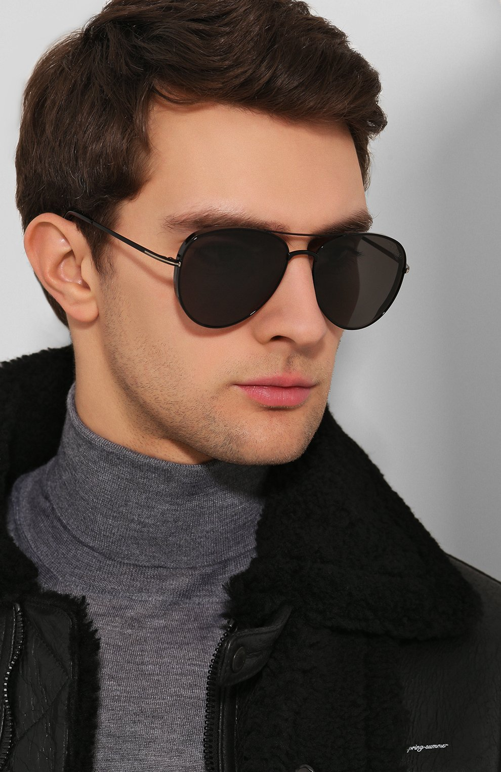 Женские солнцезащитные очки TOM FORD черного цвета, арт. TF723-K 01D   Фото 3