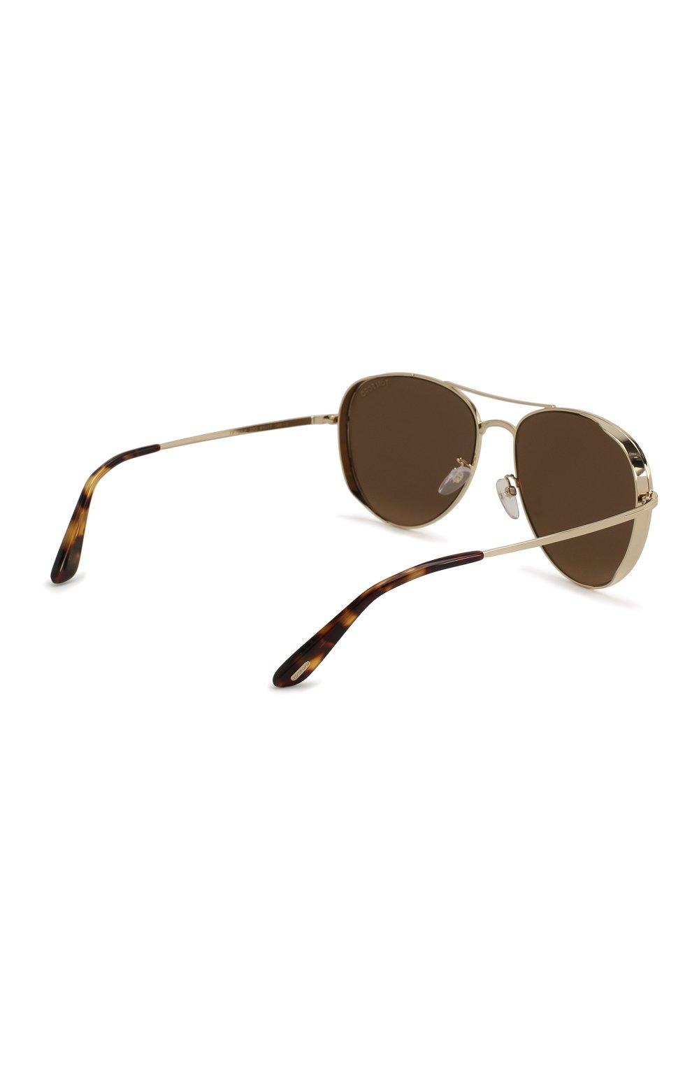 Женские солнцезащитные очки TOM FORD золотого цвета, арт. TF723-K 32G | Фото 5