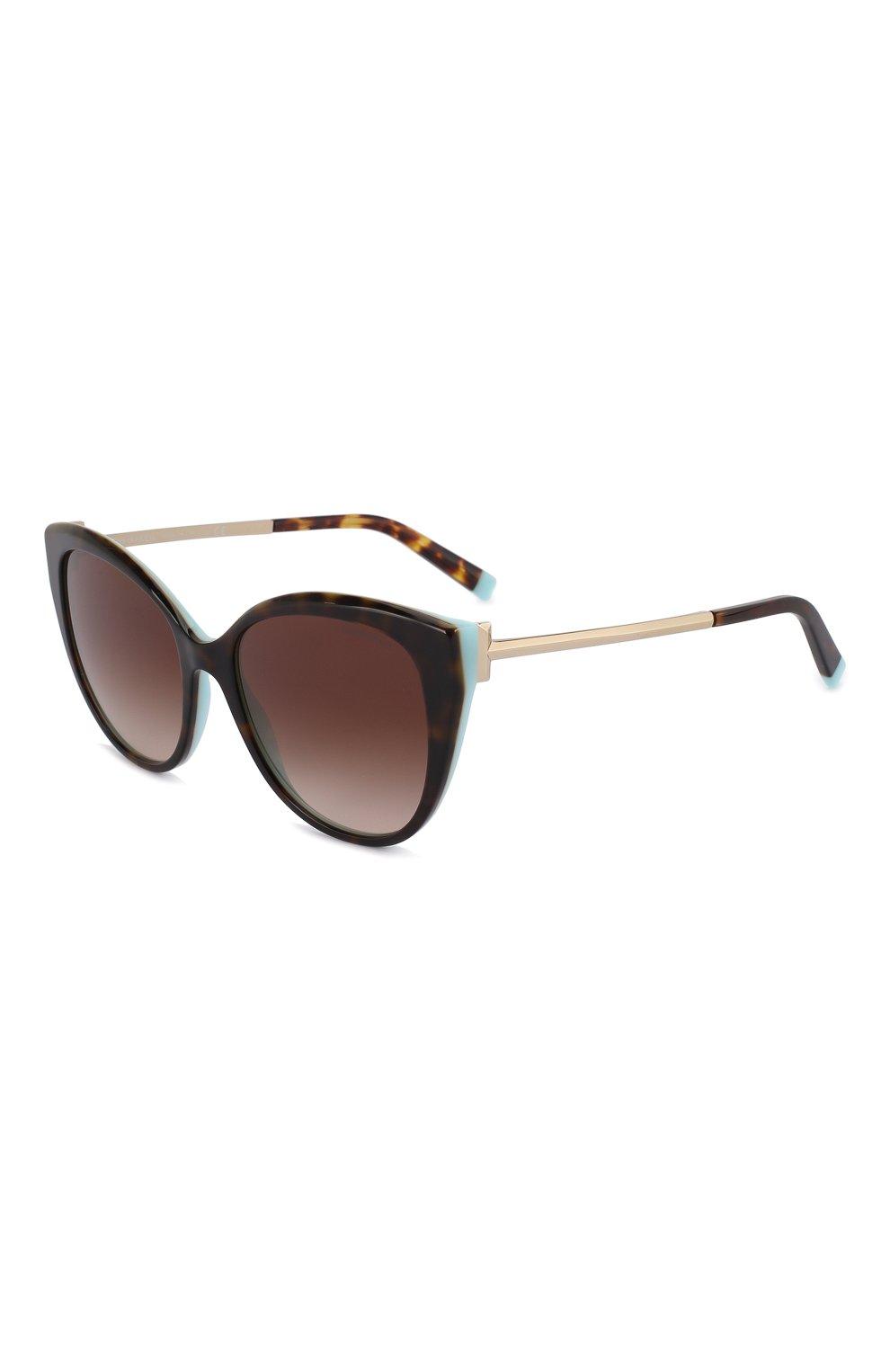 Женские солнцезащитные очки TIFFANY & CO. коричневого цвета, арт. 4166-81343B | Фото 1