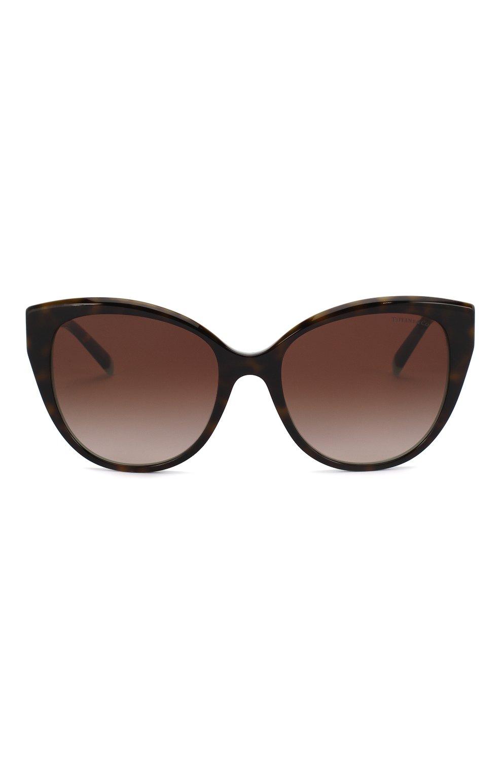 Женские солнцезащитные очки TIFFANY & CO. коричневого цвета, арт. 4166-81343B | Фото 3