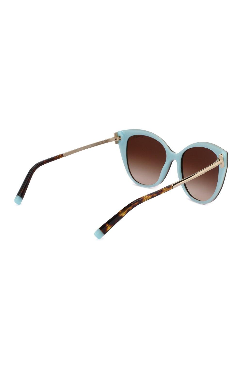 Женские солнцезащитные очки TIFFANY & CO. коричневого цвета, арт. 4166-81343B | Фото 4