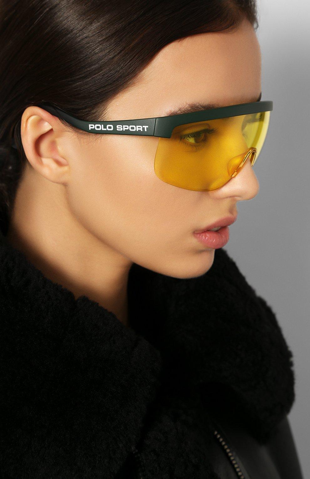 Женские солнцезащитные очки RALPH LAUREN желтого цвета, арт. 4156-582085 | Фото 2