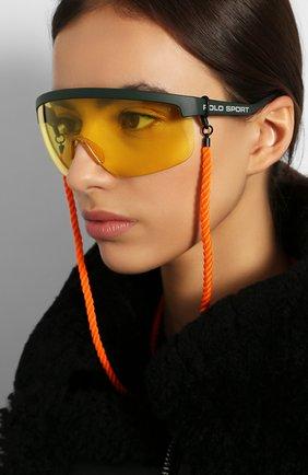 Женские солнцезащитные очки RALPH LAUREN желтого цвета, арт. 4156-582085 | Фото 6