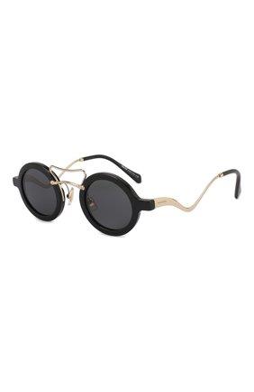Женские солнцезащитные очки MIU MIU черного цвета, арт. 02VS-1AB5S0 | Фото 1