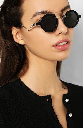 Женские солнцезащитные очки MIU MIU черного цвета, арт. 02VS-1AB5S0 | Фото 2