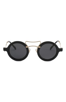 Женские солнцезащитные очки MIU MIU черного цвета, арт. 02VS-1AB5S0 | Фото 3