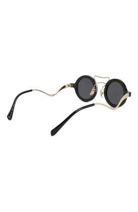 Женские солнцезащитные очки MIU MIU черного цвета, арт. 02VS-1AB5S0 | Фото 4