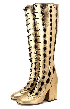 Кожаные сапоги | Фото №1