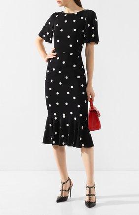 Женская кожаные туфли valentino garavani rockstud VALENTINO черного цвета, арт. TW2S0393/VCE | Фото 2