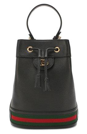 Женская сумка ophidia GUCCI черного цвета, арт. 610846/CWG1G | Фото 1
