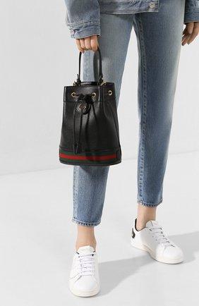 Женская сумка ophidia GUCCI черного цвета, арт. 610846/CWG1G | Фото 2