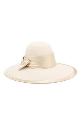 Женская фетровая шляпа GUCCI белого цвета, арт. 603493/3HJ17   Фото 1
