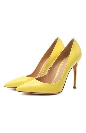 Женская кожаные туфли gianvito 105 GIANVITO ROSSI желтого цвета, арт. G28470.15RIC.VERYELL   Фото 1