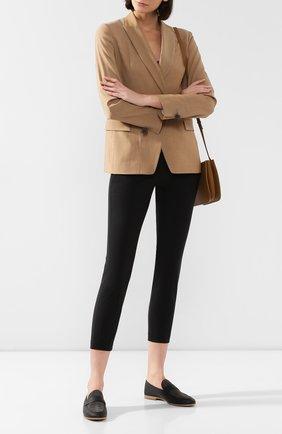 Женские кожаные лоферы BRUNELLO CUCINELLI черного цвета, арт. MZAPC1733 | Фото 2