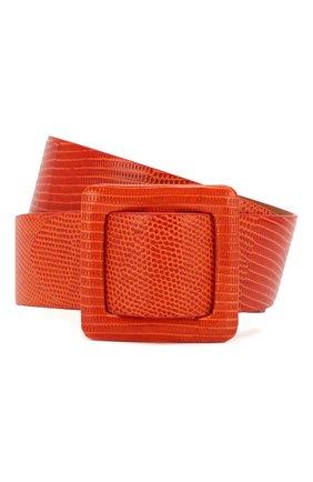 Женский кожаный ремень RALPH LAUREN оранжевого цвета, арт. 408800453 | Фото 1