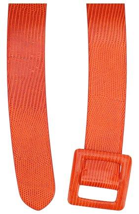 Женский кожаный ремень RALPH LAUREN оранжевого цвета, арт. 408800453 | Фото 2