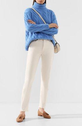 Женские кожаные слиперы SANTONI бежевого цвета, арт. WUSM58593BI3SETSP50 | Фото 2