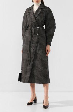 Женская кожаные туфли SANTONI черного цвета, арт. WDHZ58661HI2RSZAN01 | Фото 2