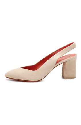 Женские замшевые туфли SANTONI бежевого цвета, арт. WDHZ58661HI2RMGDE40 | Фото 3