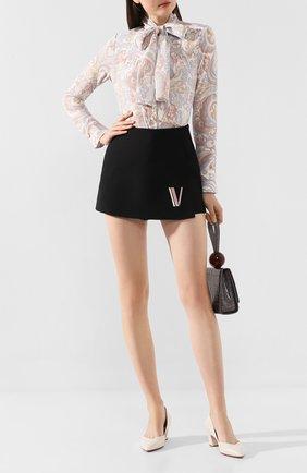 Женская кожаные туфли SANTONI белого цвета, арт. WDHC58609HI2RSZAG15 | Фото 2