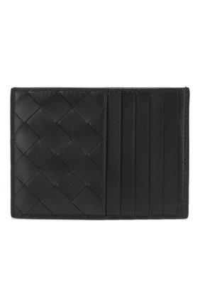 Мужской кожаный футляр для кредитных карт BOTTEGA VENETA темно-синего цвета, арт. 608088/VCPP3 | Фото 1