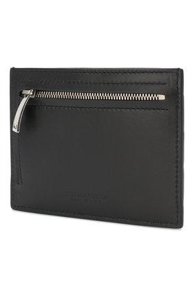 Мужской кожаный футляр для кредитных карт BOTTEGA VENETA темно-синего цвета, арт. 608088/VCPP3 | Фото 2