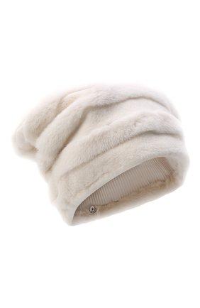 Женская шапка из меха норки FURLAND белого цвета, арт. 0081000100005300000   Фото 1
