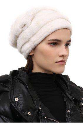 Женская шапка из меха норки FURLAND белого цвета, арт. 0081000100005300000   Фото 2