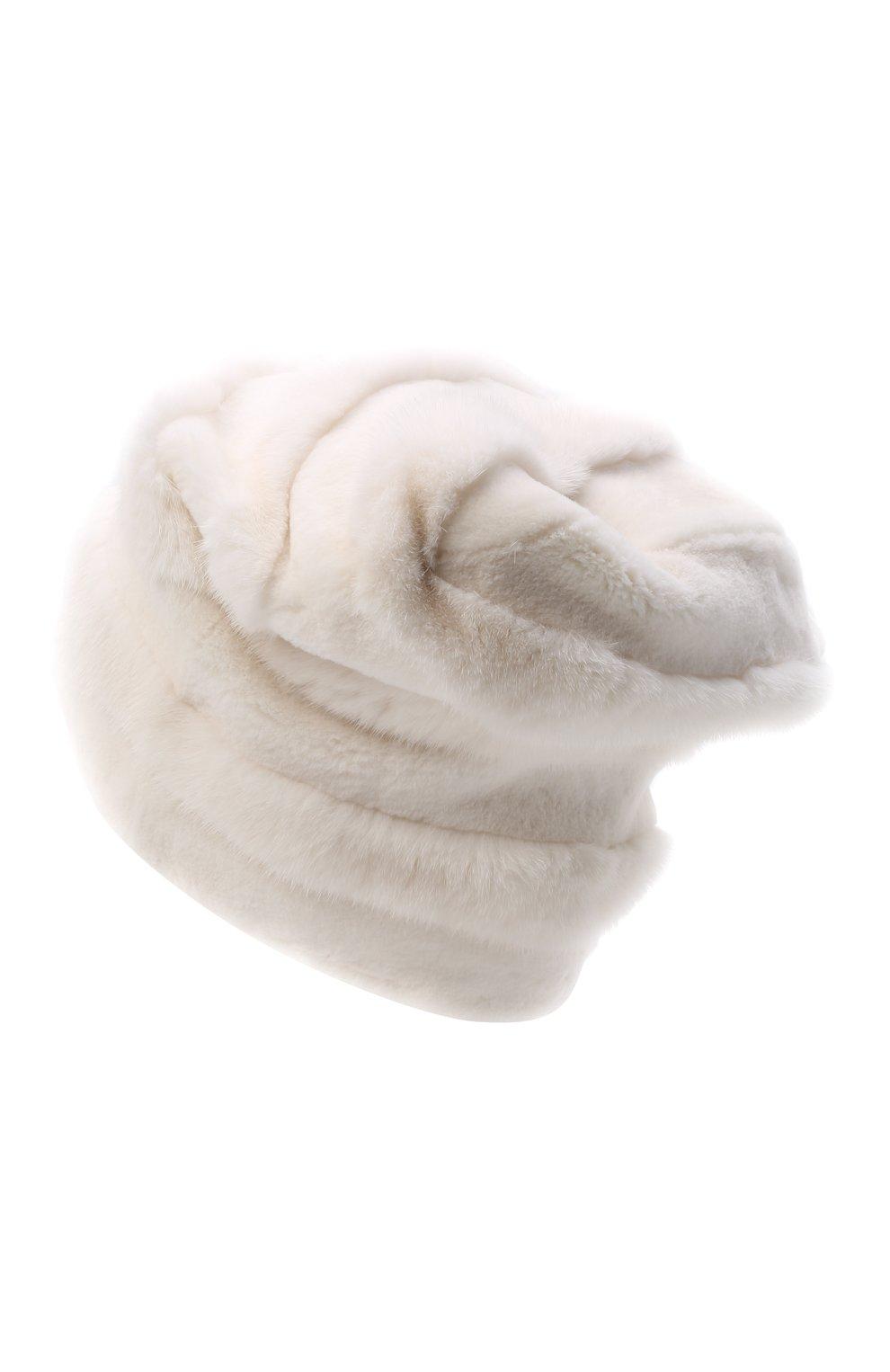 Женская шапка из меха норки FURLAND белого цвета, арт. 0081000100005300000   Фото 3