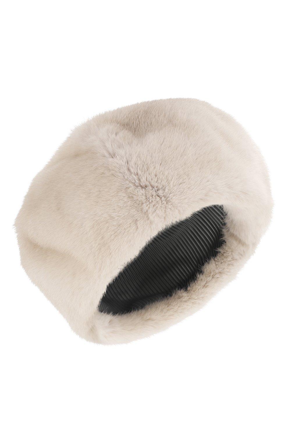 Женский берет из меха норки FURLAND белого цвета, арт. 0013600110022300000 | Фото 1