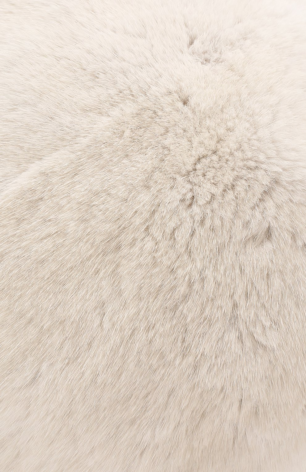 Женский берет из меха норки FURLAND белого цвета, арт. 0013600110022300000 | Фото 3