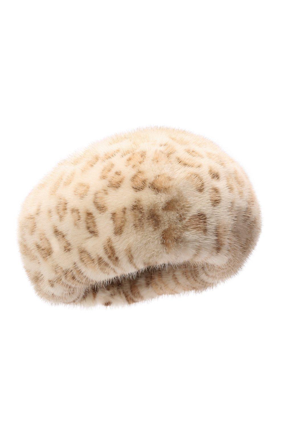Женский берет из меха норки FURLAND бежевого цвета, арт. 0013600110120300000 | Фото 1