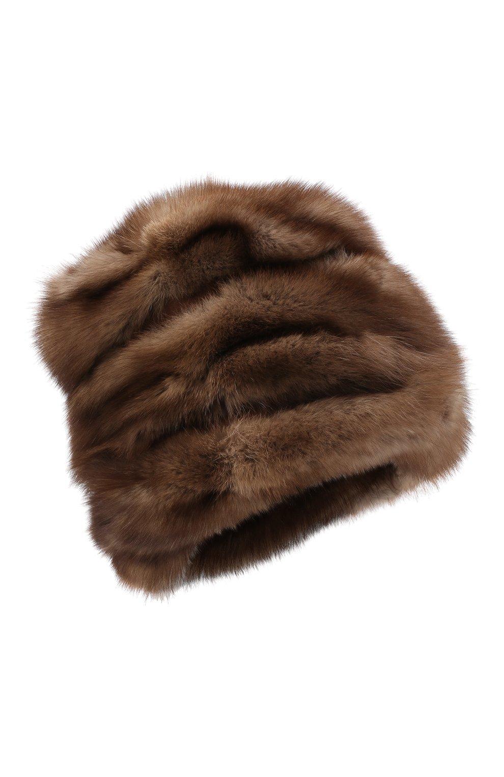 Женская шапка из меха соболя FURLAND коричневого цвета, арт. 0016303210032100007 | Фото 1