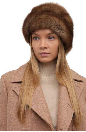 Женская шапка из меха соболя FURLAND коричневого цвета, арт. 0016303210032100007 | Фото 2