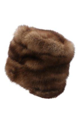 Женская шапка из меха соболя FURLAND коричневого цвета, арт. 0016303210032100007 | Фото 3
